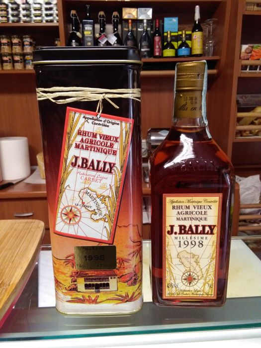 J. Bally rhum millésime 1998 x1 bottle of 70cl & 43%vol