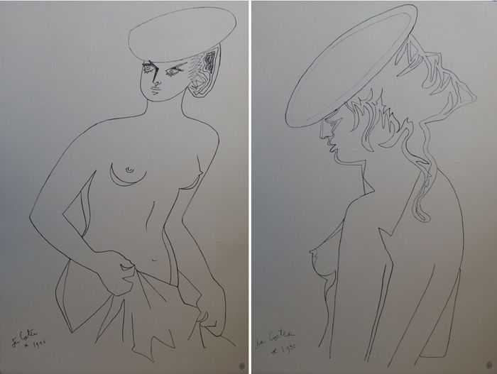 Jean Cocteau - Actrices (ensemble de deux lithographies)
