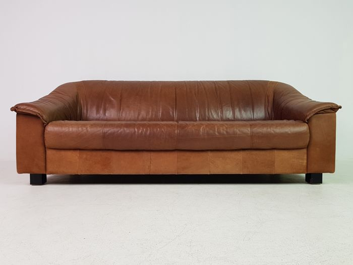 Danish Furniture Producer Vintage Three Seater Sofa In Cognac Leather Catawiki