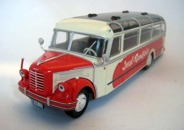 "IXO - 1:43 - Borgward BO 4000 Red/White 1952 ""Insel-Rundfahrt"" - Mint Boxed - Limited Edition"