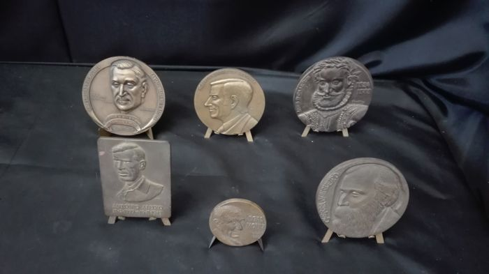 Collection of 6 Medals with Portuguese Historic Figures