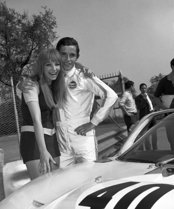 photograph - Le Mans Ickx Ford GT40 & Girl  - 2006 (1 items)