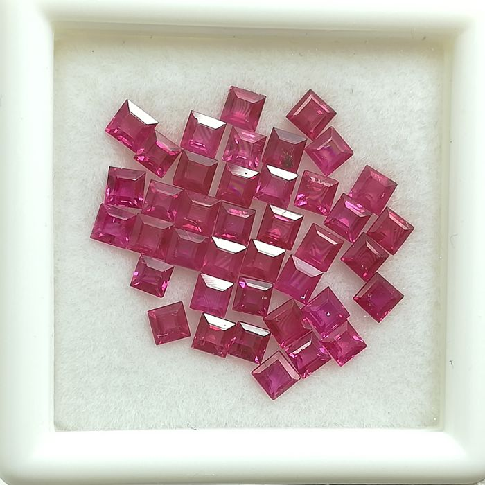 Lot of 40 rubies - 3.25 ct