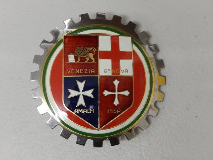 Badge - Superb Vintage Italy Italian Car Badge Auto Emblem - 1970