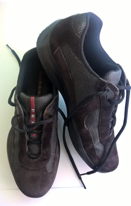 17563eb99d7 Prada - Sneakers America's Cup - Brown - Lace-up schoenen - Catawiki