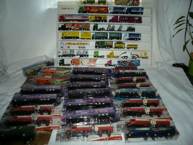 50 x lorry models with various advertising - lorry collection - mostly 1/87 Spur HO