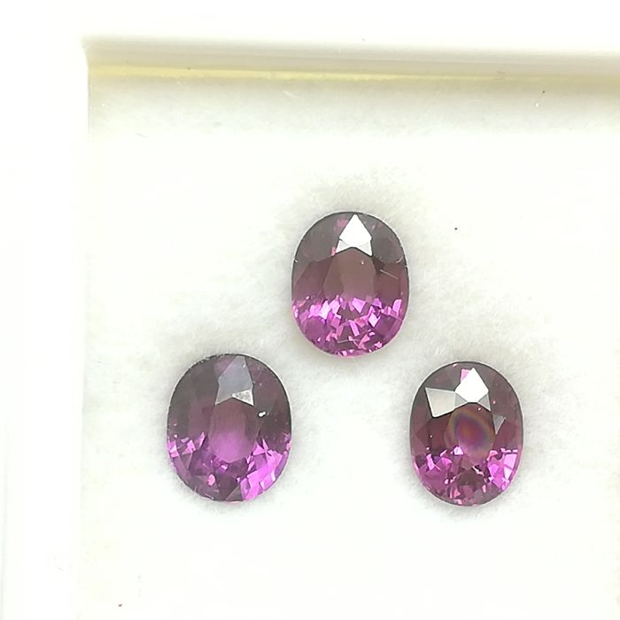 Lot of 3 Mahenge Garnets - 2.49 ct