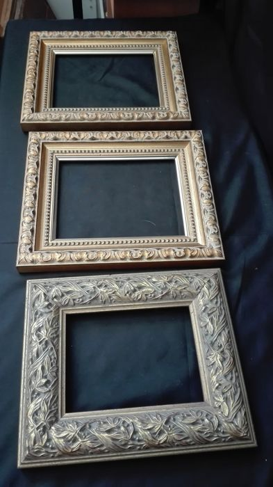 3 Unique Wooden Frames With Decorative Design Catawiki