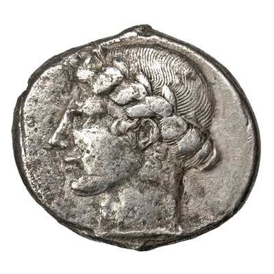 Greek Antiquity - Sicily, Leontinoi. AR Tetradrachm, after 460 BC.
