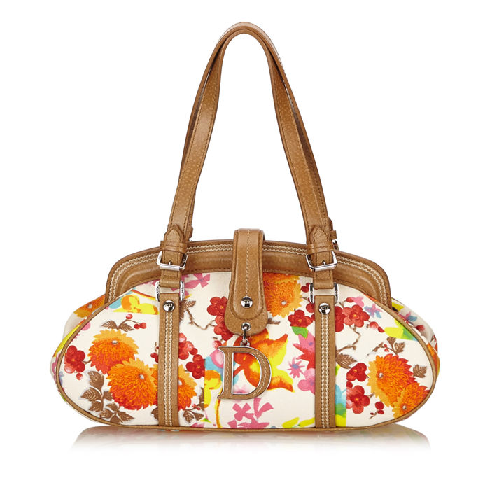 Dior - Printed Cotton Handbag