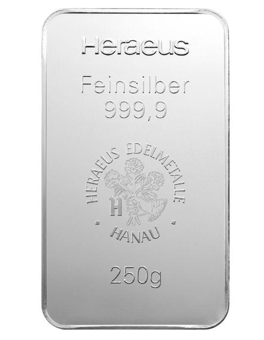 Heraeus - 250 g - 999,9 - Minted - Sealed