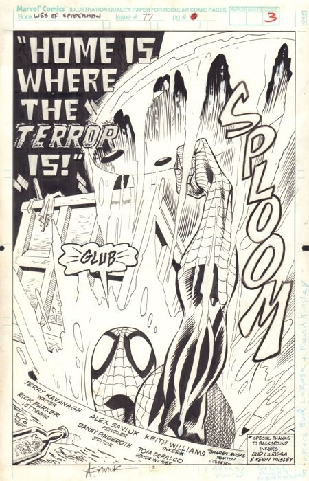 Web Of Spider-man #77 - Home Is Where The Terror Is - Loose page - First edition - (1991)