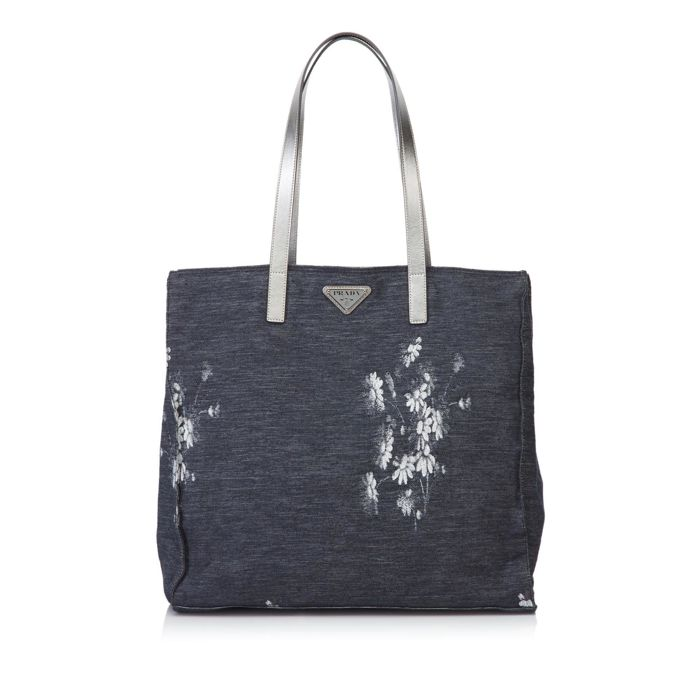 Prada - Floral Canvas Shoulder Bag
