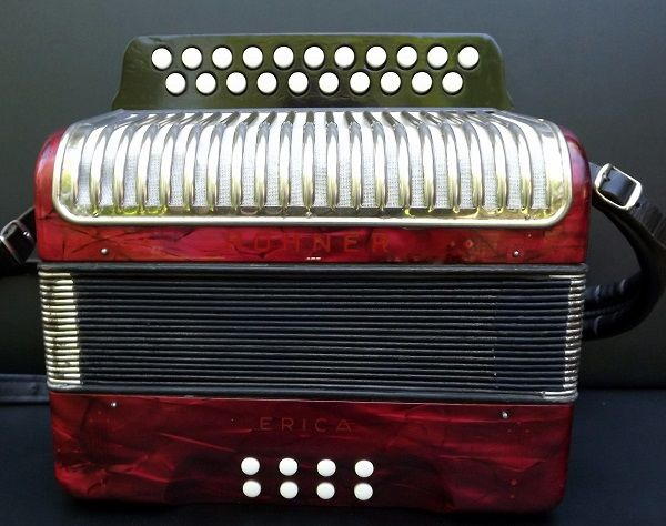 Hohner Erica Original Made in Germany Vintage Diatonic Button Accordion Vintage.