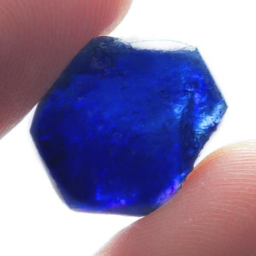 Blue Sapphire Crystals - 19ct - (2)