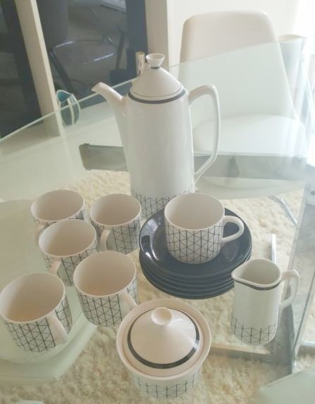 Rorstrand  - Mid Century six piece coffee set - Venezia pattern