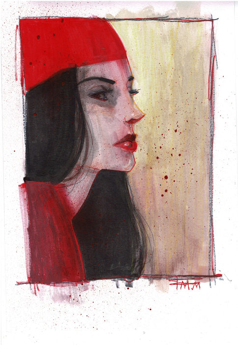 Electra - Original Drawing - Fran Mariscal - 30 x 21 cm - Loose page - First edition