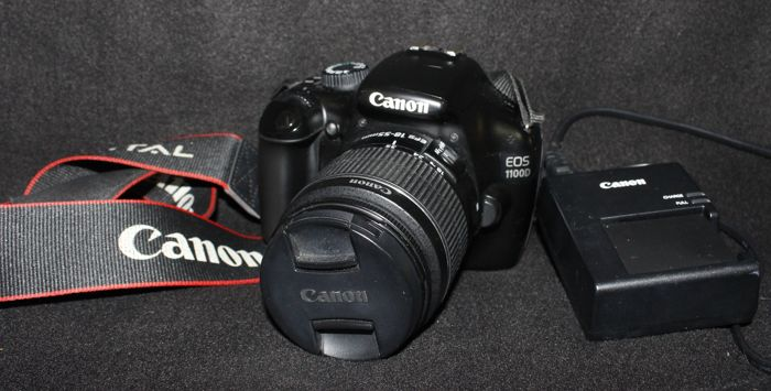 Canon Eos 1100 D with18-55 mm lens