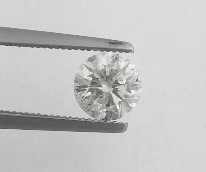 1.07 ct - F / SI1 - Natural Brilliant Diamond - Cut= EX - AIG Certificate + Laser Inscription On Girdle