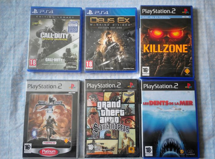 lots of 2 ps4 games and 4 ps2 games like ps4 call of
