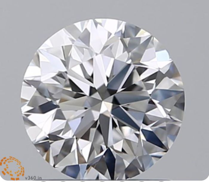 1 pcs Diamond - 0.72 ct - Briliant - D (fără culoare) - VS1