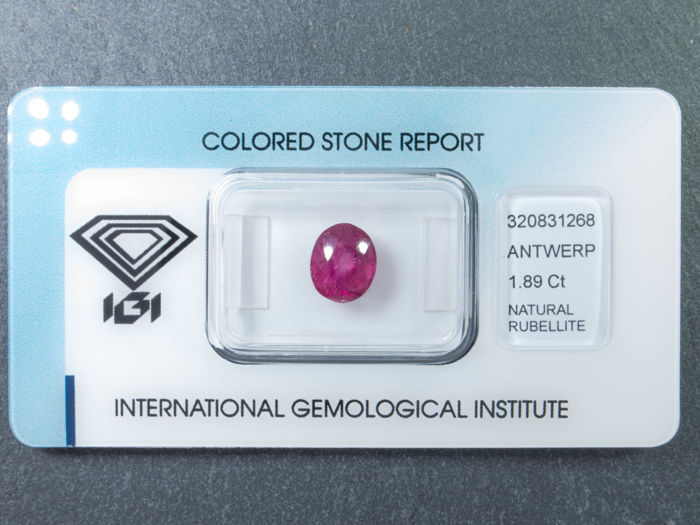 Pink purple tourmaline - 1.89 ct