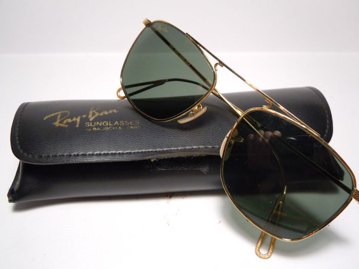 a45de96fe6d215 RAY-BAN Classic Gold Arista 24K By B L U.S.A. - With Case   Paper Lunettes
