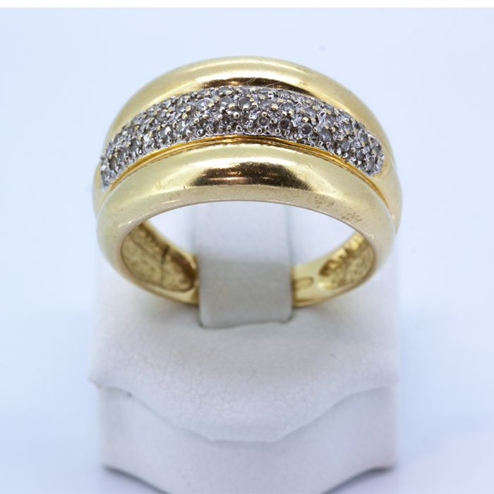Gold cocktail ring with diamonds of 0.51 ct