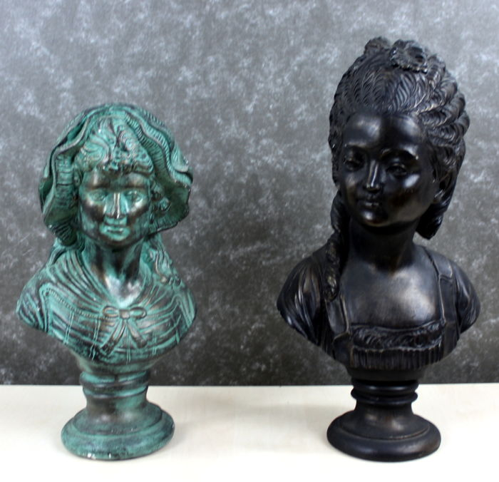 Two stone busts