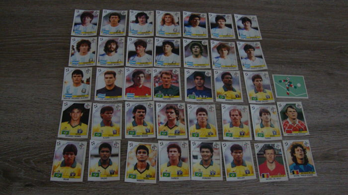 Panini - WK 1990 Italia - 38 originele stickers.