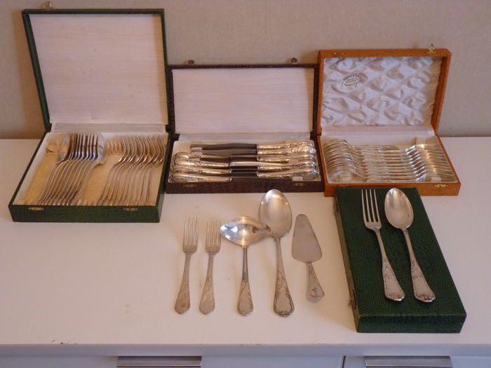 Silver-plated cutlery, period 1940-1950