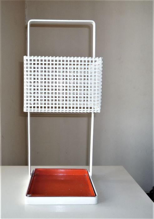 Unknown designer - Umbrella stand, Lacquered perforated metal