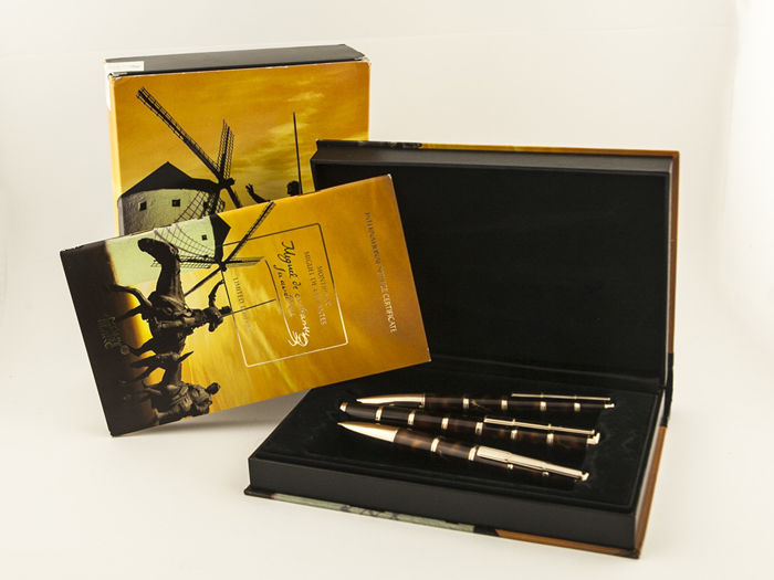 Montblanc Miguel De Cervantes 3 piece set, fountain pen, ballpoint pen and mechanical pencil, Writers Limited Edition - Brand new condition