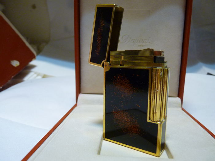 S.T. Dupont Chinese lacquer &  gold large size