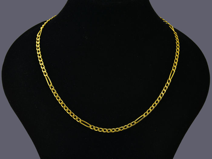 18 kt gold. CHAIN NECKLACE. Length: 46 cm.