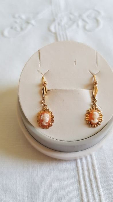 Boucles D Oreilles Camee Or 18 Kt Catawiki