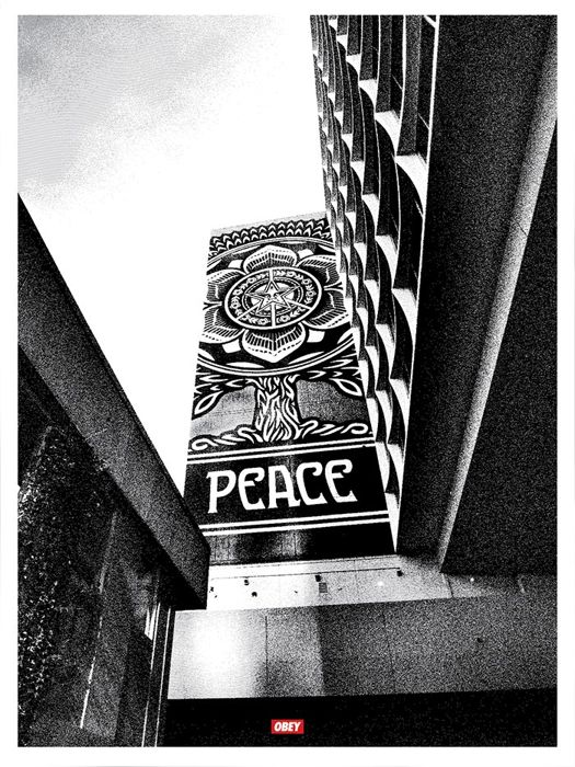 Shepard Fairey (OBEY)  - Covert To Overt - Peace Tree (Silver Edition)