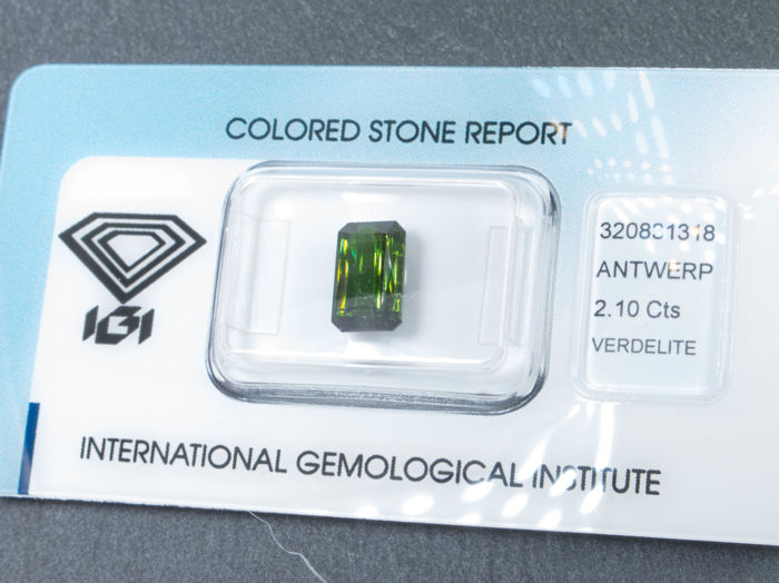 Green tourmaline - 2.10 ct