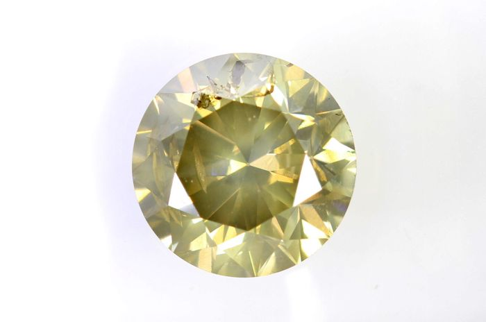 AIG Sealed Diamant - 1.50 ct - Fancy Light Brownish Yellow