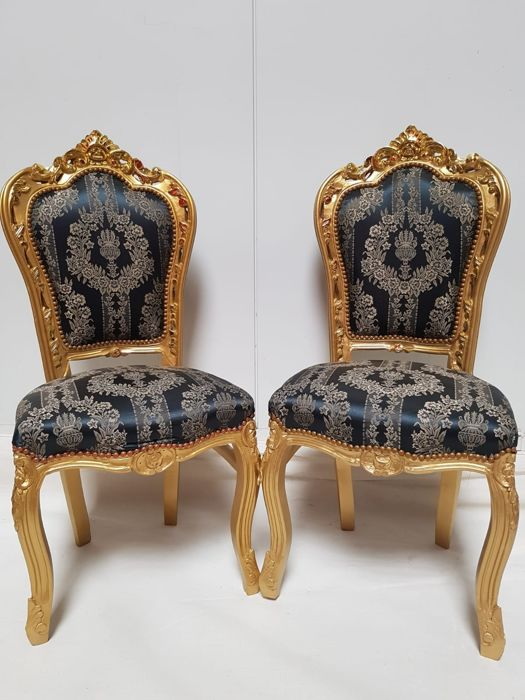 Two seats baroque style - handmade - 20th century