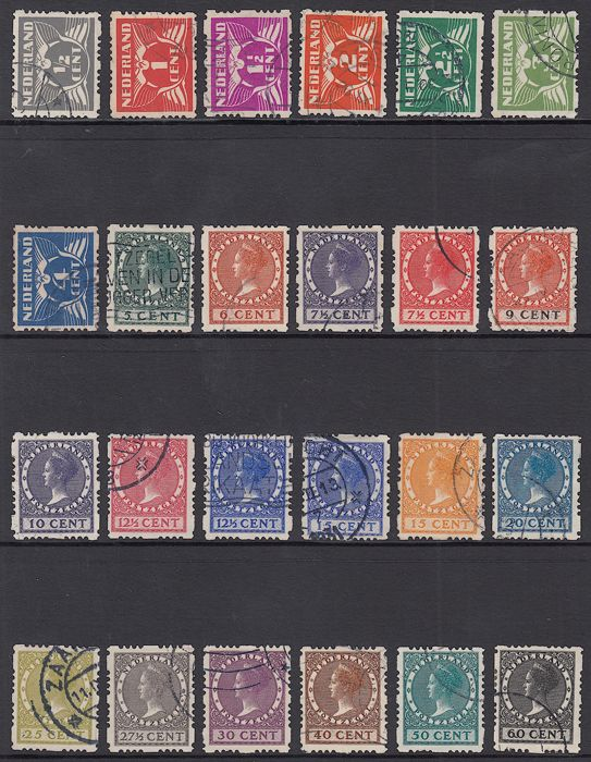 Netherlands 1928 - Four sided rolling teeth - NVPH R33/R56