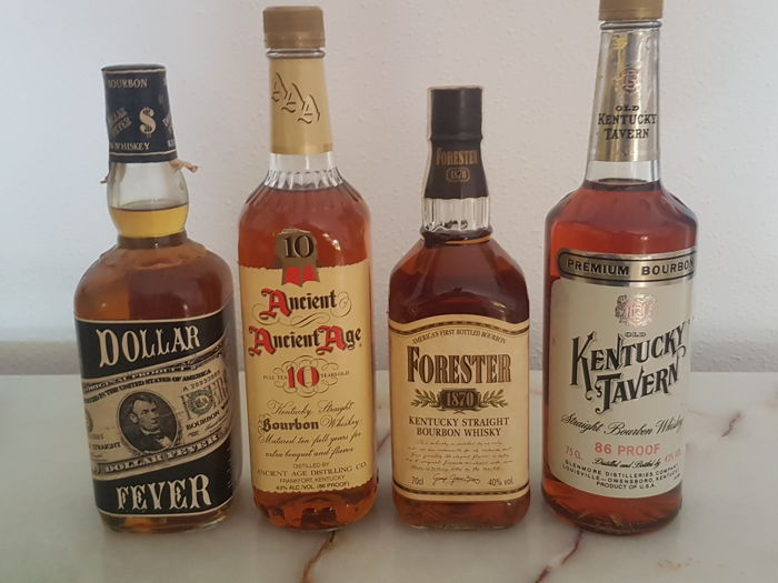 9f98006cbac 4 bottles - Kentucky Tavern 75cl   Forester 1870     Ancient Age 10 years  old