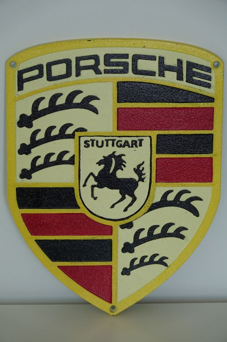 Porsche metal sign, 1980s, advertising for collectors and