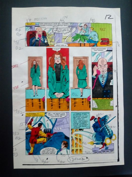 iron man 173 - Original hand coloured / inked page with corection - Other - (1983)
