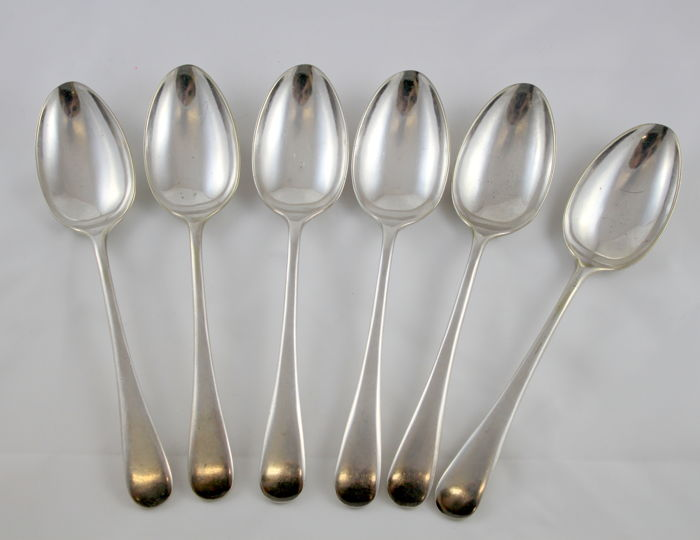 (No Reserve)Antique Victorian silver plate set of 6 spoons, by Cooper Brothers, Sheffield Circa 1870's