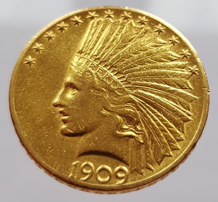 United States - 10 Dollar 1909-S Indian Head - Gold