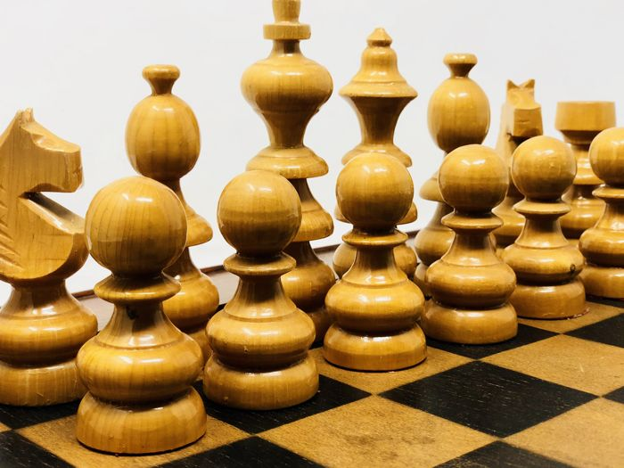 Old chess with large pieces
