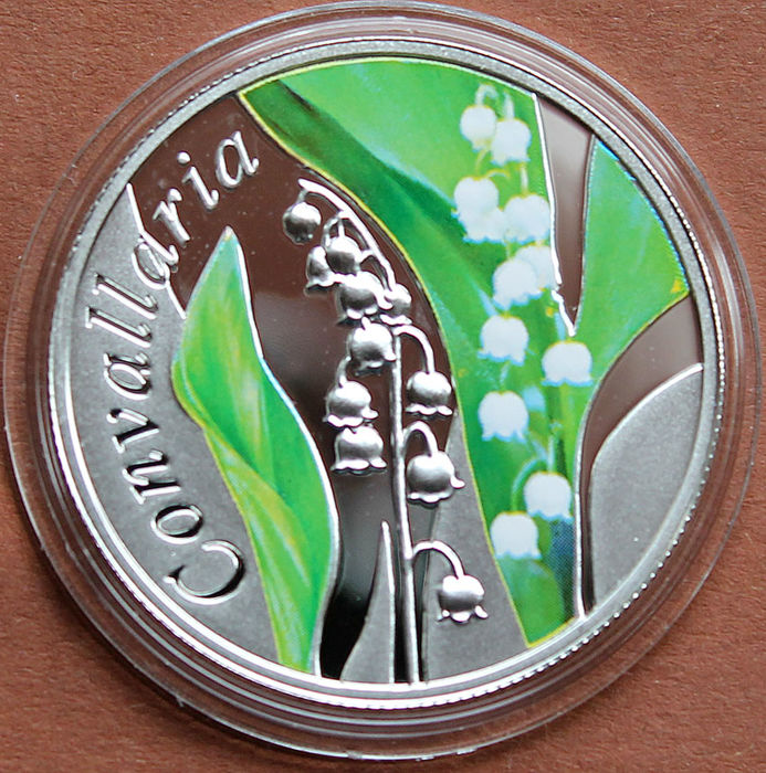 Belarus - 10 Rubel 2013 'The Beauty of Flowers - Lily of the Valley' - Silver
