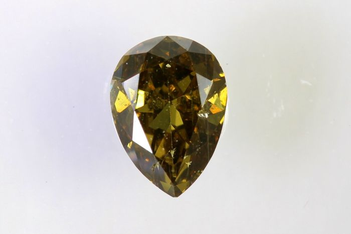 * NO RESERVE PRICE  - IGI Antwerp Sealed Diamond -  0.38  ct - Fancy Deep Yellow Brown - SI2
