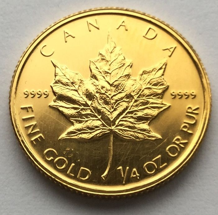 Canada - 10 Dollars 1990 Maple Leaf - 1/4 oz  - Goud